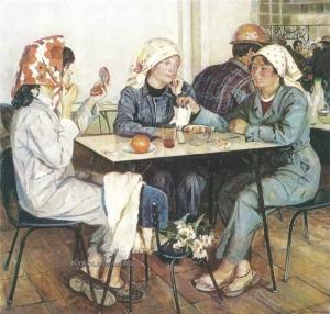 Нина Костина (Поташова). «В заводской столовой»