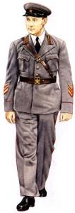 Полковник Бронетанковые войска 1940. Униформа сухопутных войск РККА во Второй мировой