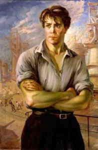 """А. А. Вольтер, """"Ударник (Строитель социализма)"""" 1932 г. (ГРМ)"""
