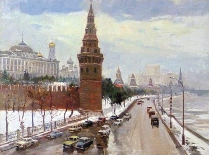 Вид на Кремлёвскую набережную с Большого Каменного моста