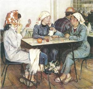 Костина (Поташова) Нина Васильевна (1934) «В заводской столовой» 1979