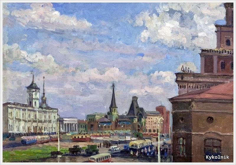 Мазанов Леонтий Никифорович (Россия, 1902-1982) «Площадь трех вокзалов» 1958