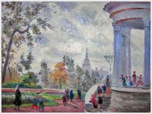 Плахотный Петр Алексеевич (Россия, 1908-1963) «Москва. Ясный день. ЦПКиО» 1951