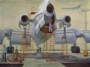 Бубнов Василий Александрович (Россия, 1942) «Перед дальними трассами» 1973
