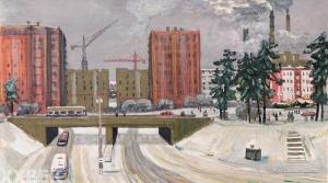 Месропян Багдасар Аветисович (1913–2002) «Москва. Зима» 1960-е