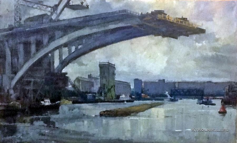 Кац Илья Львович (1908-1992) «Новый путь через Москва-реку» 1963