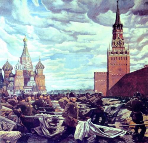"""М. Самсонов """"Парад Победы на Красной площади"""" 1984 г"""