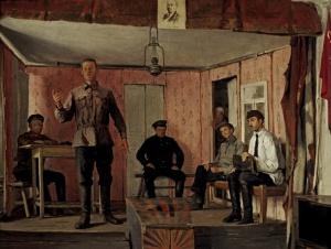 Е.М. Чепцов. Заседание сельячейки.