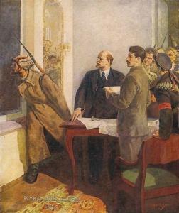 Дудник Степан Ильич (Иудович) (1914-1996) «Залп Авроры. Смольный» 1948