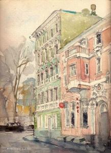 Бобровникова Людмила Яковлевна (Россия, 1951) «Московская улица»