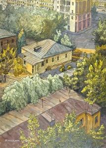 Зайцев Александр Корнилович (1926-1999) «Вид На Дорогомиловскую улицу»