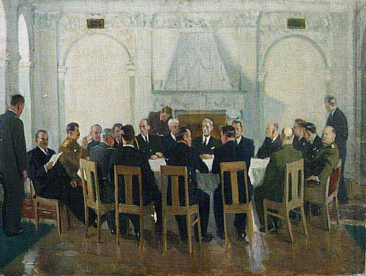 Ялтинская конференция.(Крымская) В. Ефанов. 1946.