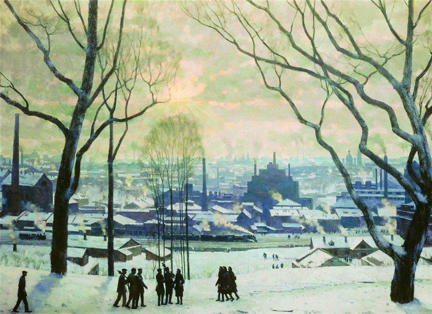 Утро индустриальной Москвы. 1949. КОНСТАНТИН ЮОН