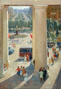 Безукладников Герман Александрович (Россия, 1928-2009) «Щелково. Праздничный день» 1963