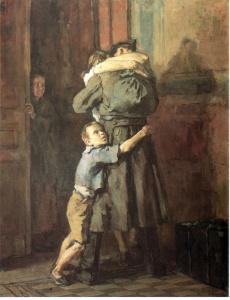 Возвращение. В. Н. Костецкий. 1945-1947