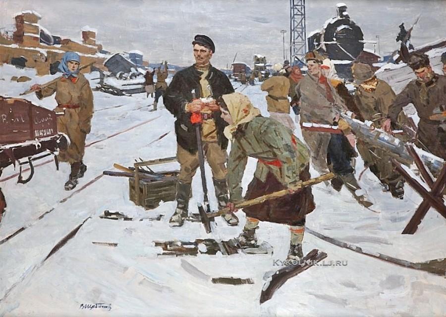 Щебланов Валентин Фёдорович (1927-1978) «Востановление железнодорожного узла»