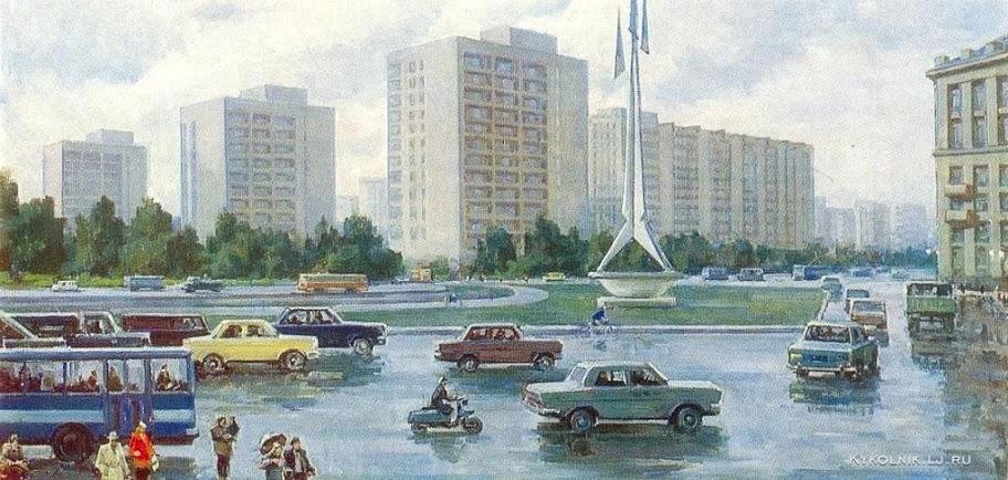 Бернгард Олег Эдгардович (Россия, 1909-1998) «По дороге на Уралмаш» 1978