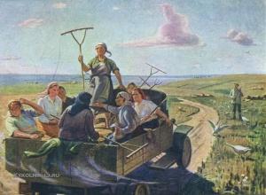 Чепцов Ефим Михайлович (1874-1950) «Выезд на работу» 1947