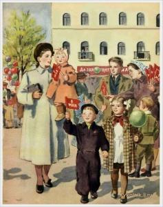 Ерёмина Татьяна Алексеевна (Россия, 1912-1995) «Первомай» 1951