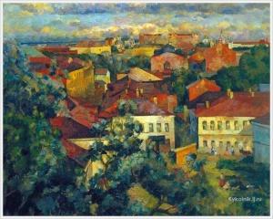 Федоров Герман Васильевич (Россия, 1885-1976) «Лето. Москва»