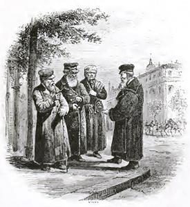 Евреи Одессы (1876). Изображение к статье: г. Одесса. (Википедия)