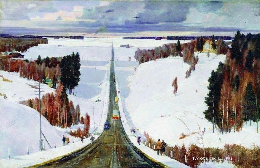 Нисский Георгий Григорьевич (Россия, 1903-1987) «Подмосковная зима» 1951