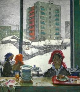 Романычев Борис Михайлович (Россия, 1932-1988) «В новом районе» 1971
