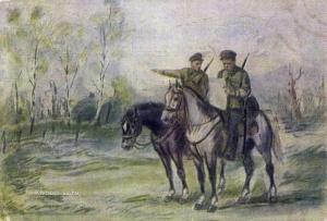 Рудаков Константин Иванович (1891-1949) «На разведке» 1944