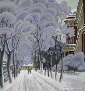 Шепелев Лев Викторович (Россия, 1937-2013) «Иней в Санкт- Петербурге»