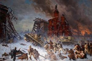 «Штурм Выборга», Павел Соколов-Скаля. 1940. (Штурм Выборга – финальный аккорд Советско-Финской войны)