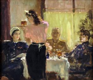 Самохвалов Александр Николаевич (1894-1971) «Встреча друзей» 1945