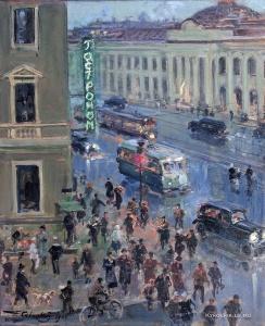 Савицкий Георгий Константинович (Россия, 1887-1949) «Ленинград. Белые ночи» 1941