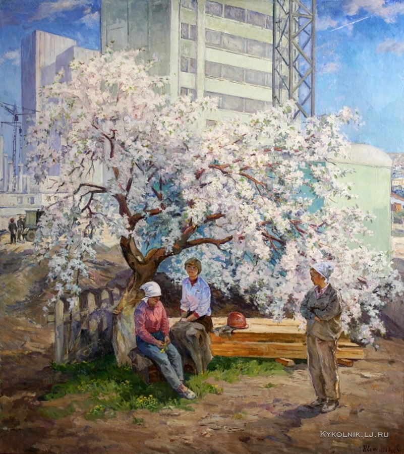 Иванникова Светлана Федоровна (Россия, 1941) «Весна» 1982