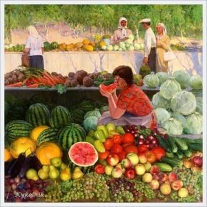 Титов Геннадий Кириллович (Россия, 1914-1970-е) «Рынок» 1970-е
