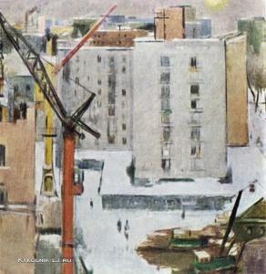 Васильев Владимир Александрович (1895-1967) «Москва строится» 1946