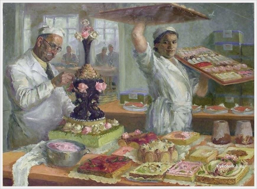 Яновская Ольга Дмитриевна (Россия, 1900-1998) «Мастерская тортов» 1937