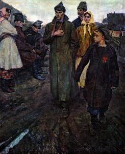 В. А. Чеканюк. Первая комсомольская ячейка на селе. 1958