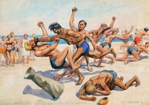 Иван Владимиров. Мордобой на пляже, 1930-е