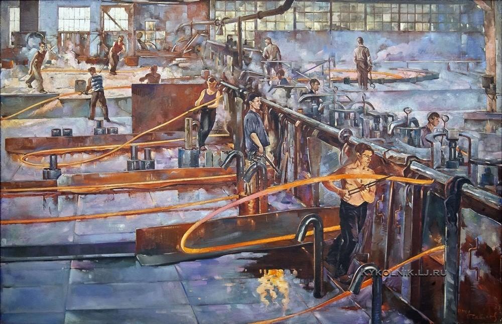 Павлов Семён Андреевич (1893-1941) «Горячепрокатный цех Гвоздильного завода» 1937