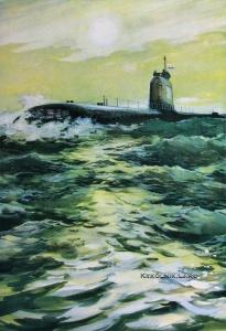 Бабановский Андрей Игоревич (1931-1995) «Атомная подводная лодка» 1972