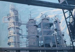 Бухаров Анатолий Павлович (1931-1995) «Ухтинский нефтеперерабатывающий завод» 1977