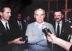 """Первое интервью после возвращения из """"Фороса"""", 22 августа 1991 года."""