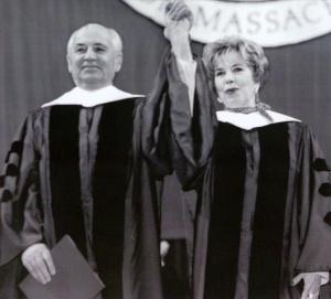Горбачев с супругой в Бостоне, 1992 год.