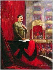 Решетников Федор Павлович (Россия, 1906 — 1988) «Великая клятва. Речь И. В. Сталина на II Всероссийском съезде Советов 26 января 1924 года» 1949