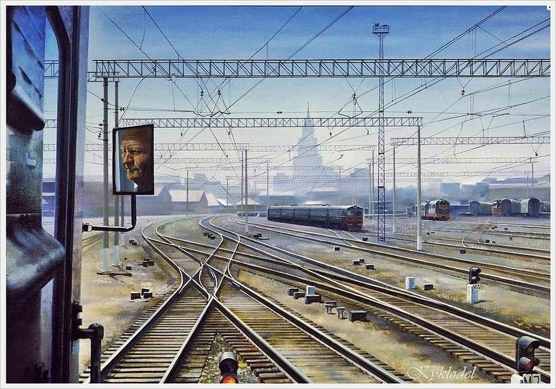 Петров Александр Николаевич (Россия 1947) «Казанский вокзал» 1980