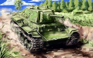 Советский тяжелый танк КВ-1