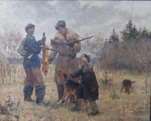 Шмаринов Алексей Дементьевич (Россия, 1933) «На охоте»