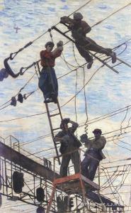 Попков Виктор Ефимович (1932–1974) «Электрики» 1958