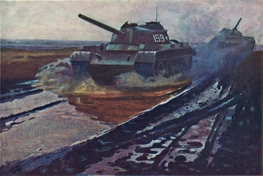 Марченко Георгий Иванович (1913-1981) «На танкодроме» 1970