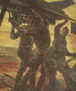 Овечкин Николай Васильевич (1929-1993) «Тревога. Ракетчики» 1969